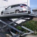 Autolift: Antrieb:  Elektro- Hydraulisch, Traglast: 2,5t, Plattform: 3,0 x 6,0m; Bauhöhe: 1,20m