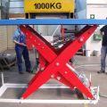 Riemenhubtisch:Traglast: 2,5t, Plattform:  1200 x 2400mm,